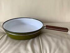 Cathrineholm Norway Avocado Green Frying Pan with Teak Handle