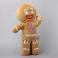 Large Size 48 CM Shrek Gingerbread Man Bigheadz Stuffed Plush Toys Cartoon Soft