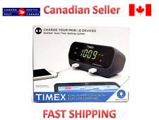 TIMEX DUAL ALARM CLOCK WITH DUAL USB CHARGING (T129BQC)