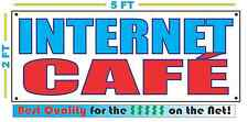 INTERNET CAFE Banner Sign NEW Larger Size Best Quality for The $$$