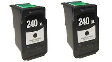 2 PK NON-OEM INK FOR CANON PG-240XL BLACK PIXMA MG4120 MX432 MX512 MG3120 MG4220