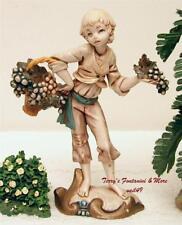 "Fontanini Depose Italy 7.5"" Boy w/Grape Basket Nativity Village Figure Spider"