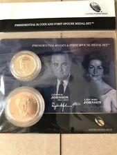 2015 Lyndon & Lady Bird Johnson First Spouse Presidential Coin & Medal Set