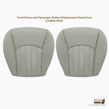 2003 2004 Jaguar X-Type Front Driver & Pasenger Bottom Leather Seat Cover GRAY