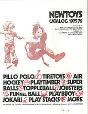 Newtoys Catalog 1975 Toys Playground Equipment Air Hockey