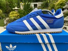 2016 Adidas Dragon OG Blue & White Deadstock 80s Football Casuals Size 8