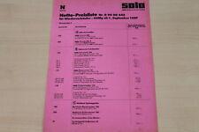 177262) Solo - Preisliste für Wiederverkäufer - Prospekt 09/1987