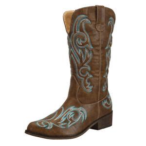 On Sale SheSole Womens Ladies Vintage Western Cowboy Boots Brown AU Size 5-11