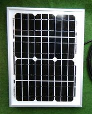 10W SOLAR PANEL 12V CHARGER 10 WATT +1.5m cable croc clips classic car camper RV