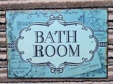 Brand New Bathroom sign plaque Metal