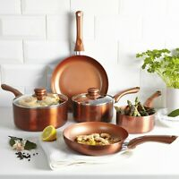 URBN-CHEF Ceramic Copper Induction Cooking Pots Lids Saucepans Pans Cookware Set