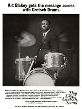 Art Blakey POSTER Gretsch Drums JAZZ DRUM MASTER