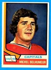 1974-75 Topps MICHEL BELHUMEUR (vg-ex) Washington Capitals