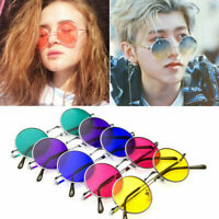 Colorful John Lennon Fashion Round Sunglasses Vintage Creative Hippie Glasses