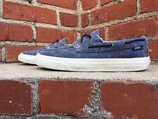 Vans Zapato Del Barco Blue Canvas Skateboard Boat Sneaker Men Size 7.5 Women 9