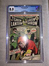 Green Lantern & Green Arrow #85 VF CGC 8.0 Classic Adams Anti-Drug DC Comic 1971