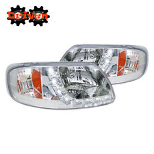 97+ Ford F150 Truck Harley Lighting SVT 1PC Chrome Headlights w/ LED DRL Corners