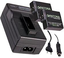 2x Patona Akku Battery AHDBT-501 + Ladegerät für GoPro Hero 5 Black / Hero5