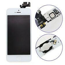 For iPhone 5 White Touch Screen Digitizer LCD Front Camera Home Button Tested A+