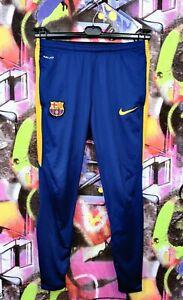 Barcelona FC Spain Football Soccer Pants Sweatpants Nike Mens size S Mint condit