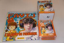 Álbum Figuras Panini Favij + 50 Sobres Sellados de Box Pegatinas Tuten Packets