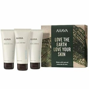 ✅ AHAVA Dead Sea Mineral Hand Cream Body Lotion and Shower Gel Value Set