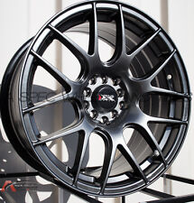 XXR 530 18X7.5 5x100/114.3 +38 Chromium Black Wheel Fits TIburon Mazda 3 Eclipse