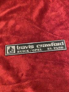 Vintage Auto Dealer Metal Emblem from Travis Crawford Buick Opel in El Paso, TX.