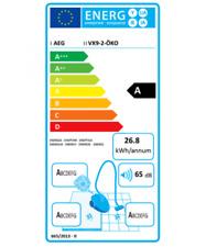 AEG Staubsauger VX9-2-ÖKO Bodenstaubsauger mit Allergy Plus Filter