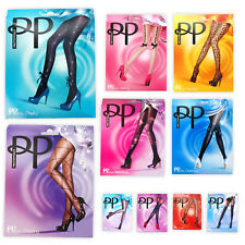 Womens Pretty Polly Tights Suspended (Mock Patten) Formal, Braced