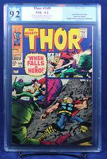 Thor #149 PGX (not CGC) 9.2 NM- Near Mint - Origin of Black Bolt! Movie coming!