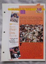 Joe Namath Jets Super Bowl III Greatest Moment in Sports Heroes Sheet
