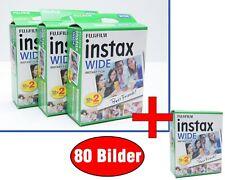 80 Bilder Fuji Instax Wide Film für Fujifilm Wide 100 200 300 ***HÄNDLER***