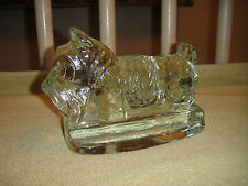Superb Scotty Dog Glass Paperweight Bookend-Scottish Terrier Solid Glass-4Lbs