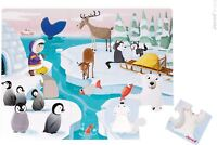 "Janod GIANT TACTILE PUZZLE ""LIFE ON THE ICE"" Kids/Childrens Jigsaw  BN"