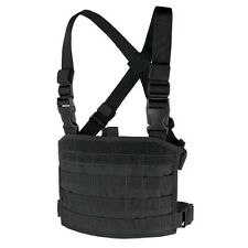 Condor Outdoor Tactical Modular Adjustable MOLLE Military Chest Panel Rig Black