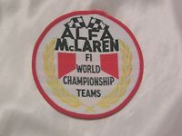 MOTOR RACING CLOTH PATCH from 1970's BRAND NEW OLD STOCK ALFA McLAREN #3