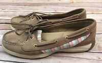 Sperry Top-Sider Womens Boat Shoes STS91331 Brown Pink Leather Size 7.5 Medium