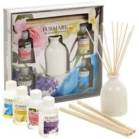 4 Fragrances Reed Diffuser Aroma Air Freshener Gift Set 50ml Oils Home Scents