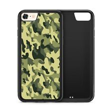 Camouflage Pattern Camo Green Army Black Rubber Phone Case