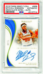 MITCHELL ROBINSON 2018 Panini Immaculate INTRODUCTIONS PSA AUTO ROOKIE RC