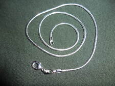 (RRJJU) 1.2mm 30 in. Sterling Silver Plated snake chain necklace(tagged 925)