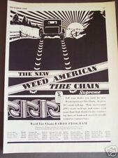 1930 vintaqge AD Weed American Tire Chains sunrise art