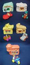 Vintage 1993 Set Of 5 Flintstones Houses and Cars  from  McDonalds