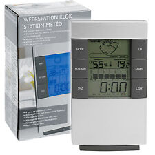 Desktop Weather Station Alarm Clock Temperature Date Week Month Blue Backlight