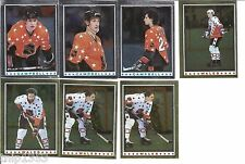 1982 Topps Hockey Stickers  All-Star 8 Card Lot With Gretzky-Messier
