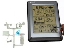 Professional Wireless Weather Station Touch Panel w/ Solar sensor, w/ PC interf