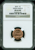 2010-P LINCOLN CENT NGC MS66 RD SHIELD