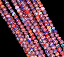 4MM MATRIX TURQUOISE GEMSTONE PURPLE RED ROUND 4MM LOOSE BEADS 15.5""