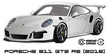 New! Collectable Sticker Porsche 911 GT3 RS 2016 SILVER